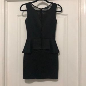LBD with Peplum and Mesh Detail